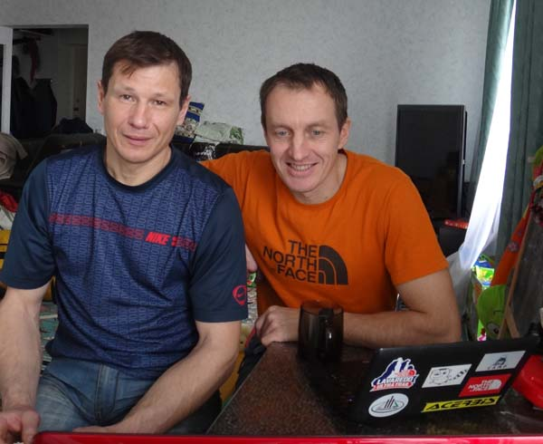 Alexey Bolotov and Denis Urubko